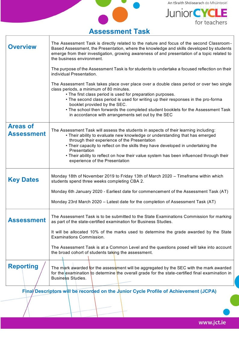 Assessment Task Overview