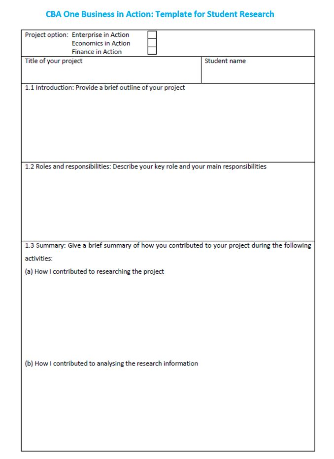Business studies classroom based assessments junior cycle for cba 1 student reflection template cheaphphosting Image collections
