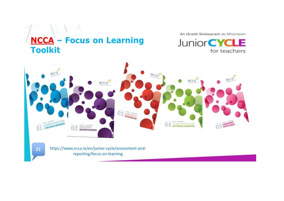 NCCA Focus on Learning