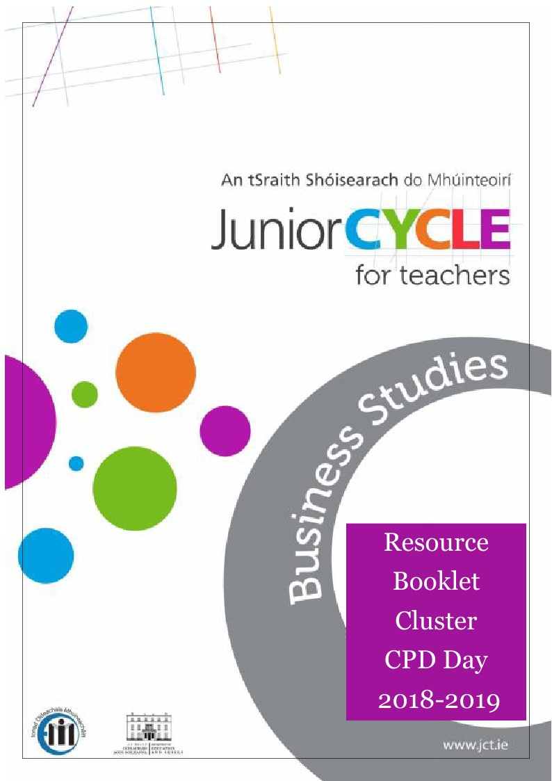 Resource Booklet for Cluster CPD Day 2018/19