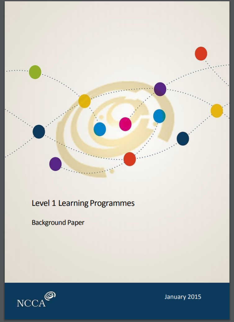 Background Paper on Level 1 Learning Programmes