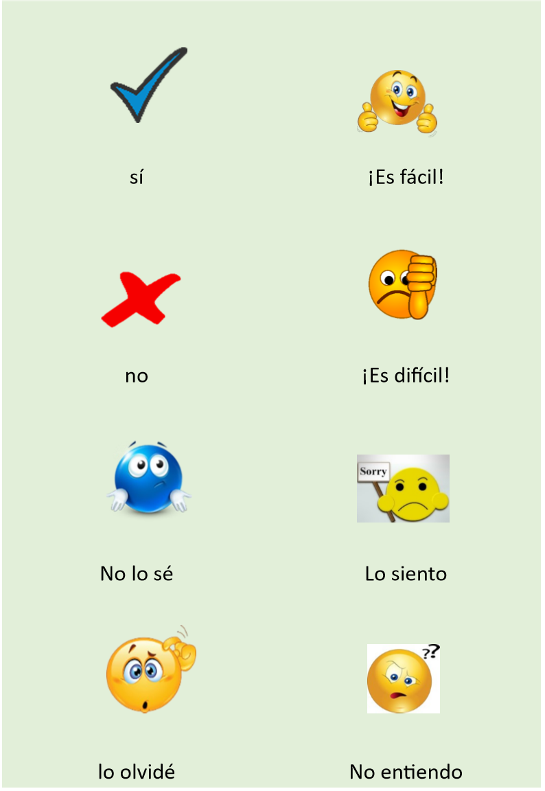 Classroom Language Flashcards Spanish