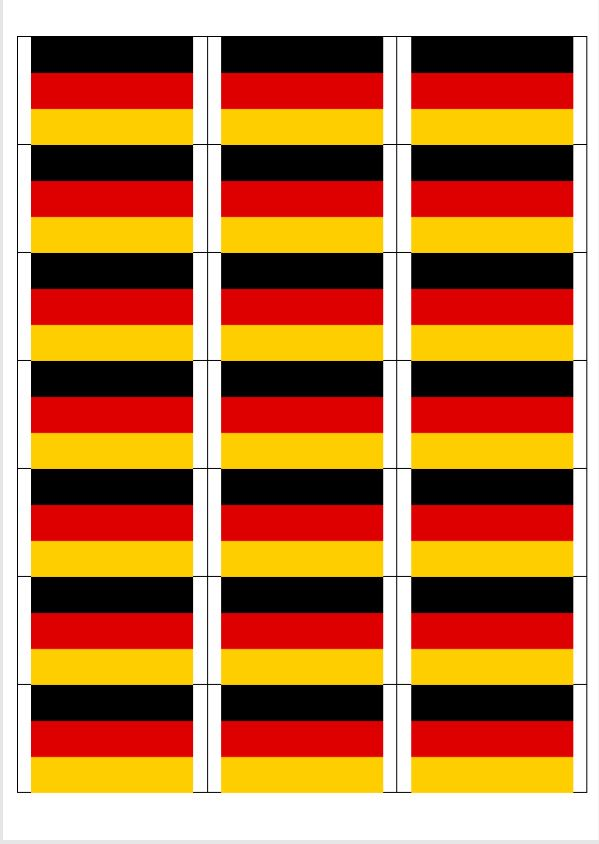 German Flag stickers