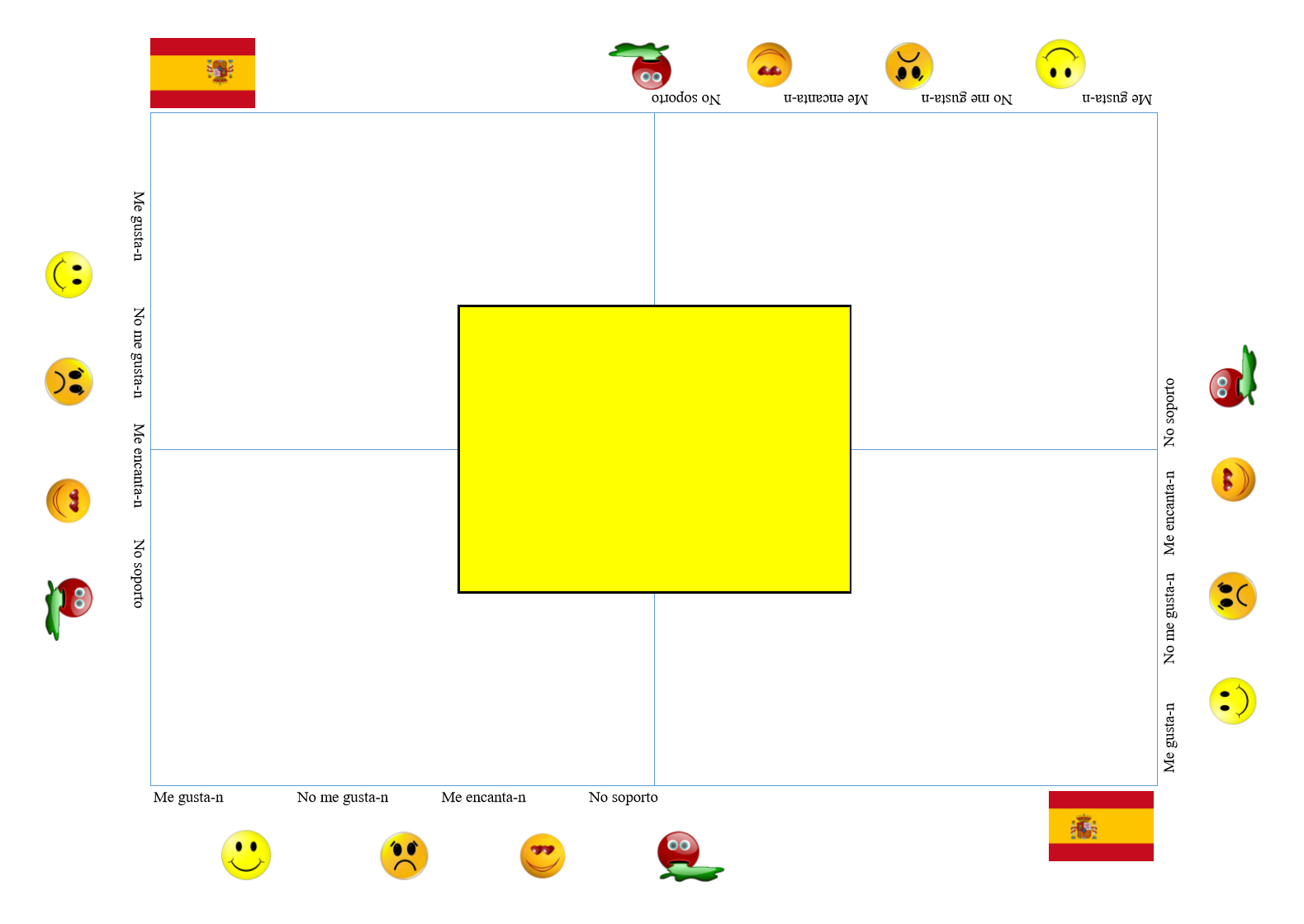 Editable Placemat Spanish