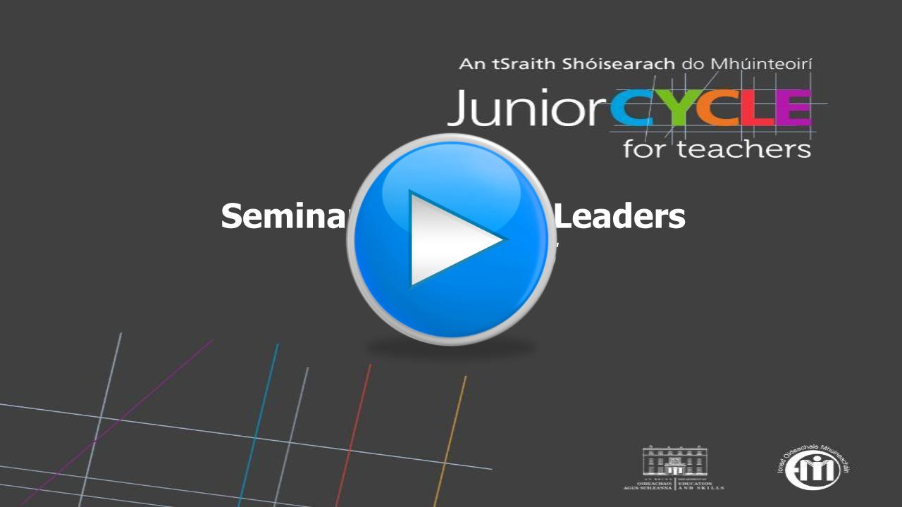 Seminar for School Leaders Autumn 2015