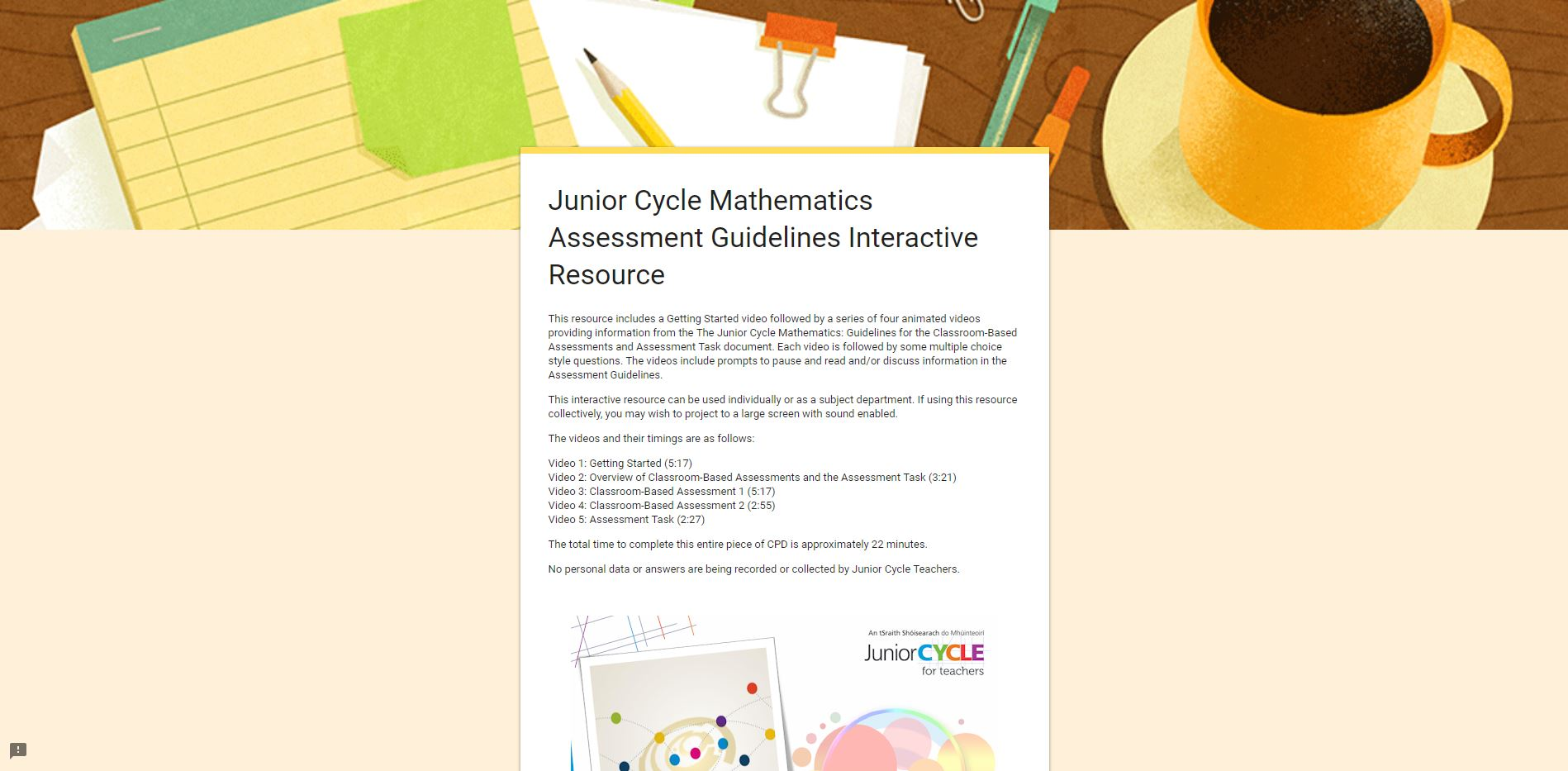 Assessment Guidelines Interactive Resource