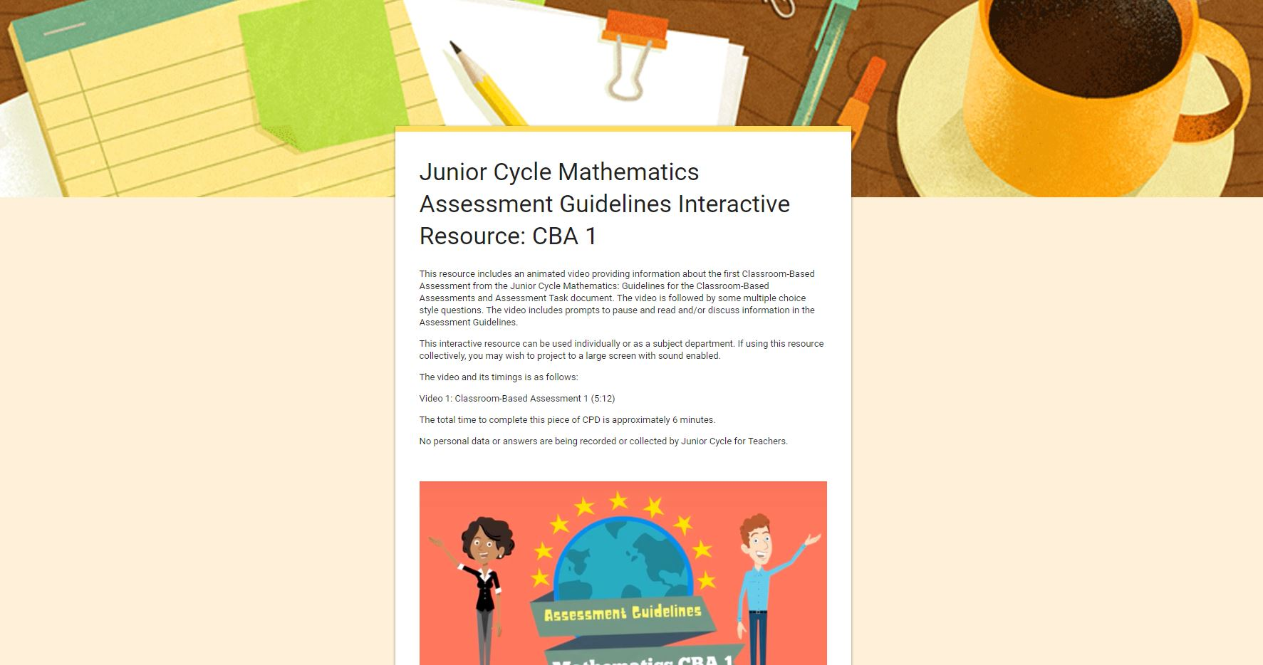 Assessment Guidelines Interactive Resource - Section Two CBA 1