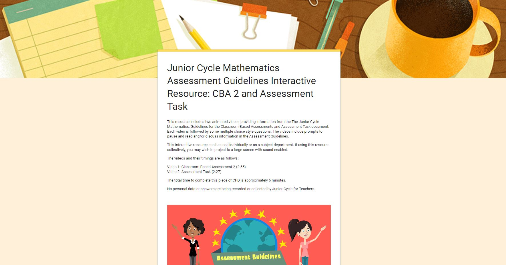 Assessment Guidelines Interactive Resource - Section Three CBA 2 and the Assessment Task