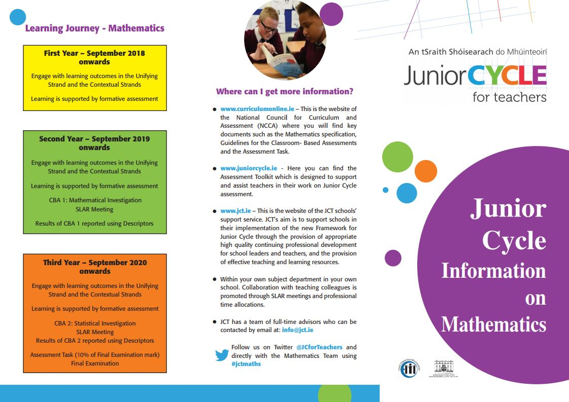 Maths | Key Documents | Junior Cycle for Teachers (JCT)