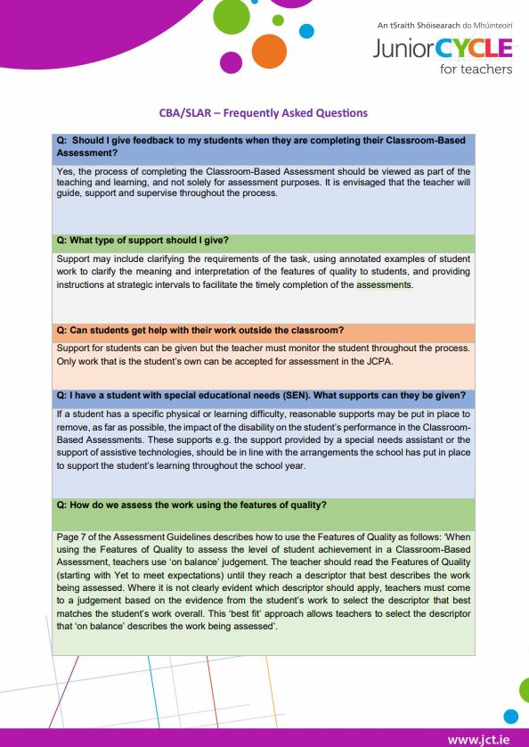 Maths | Resources | Junior Cycle for Teachers (JCT)