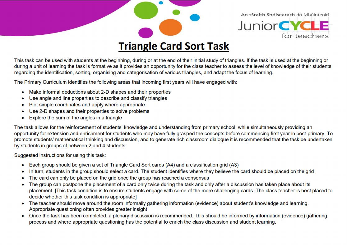 Triangle Card Sort Task