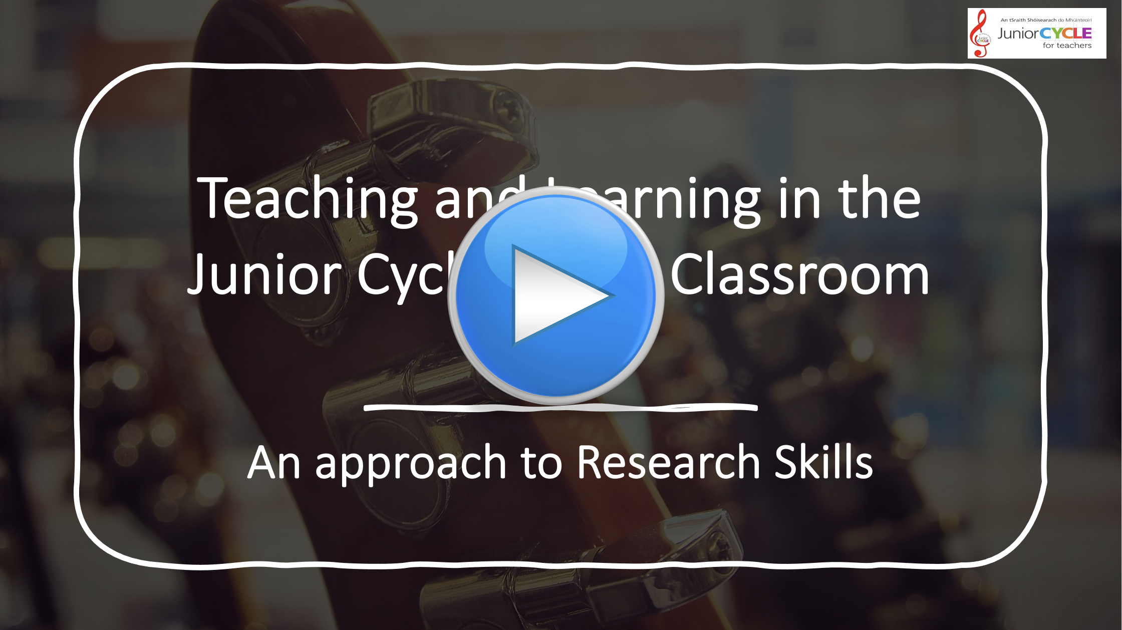 Online Learning an Approach to Research Skills