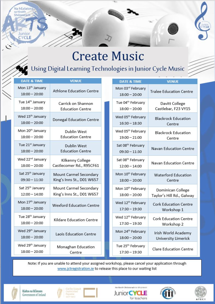 Create Music Using Digital Learning Technologies in Junior Cycle Music