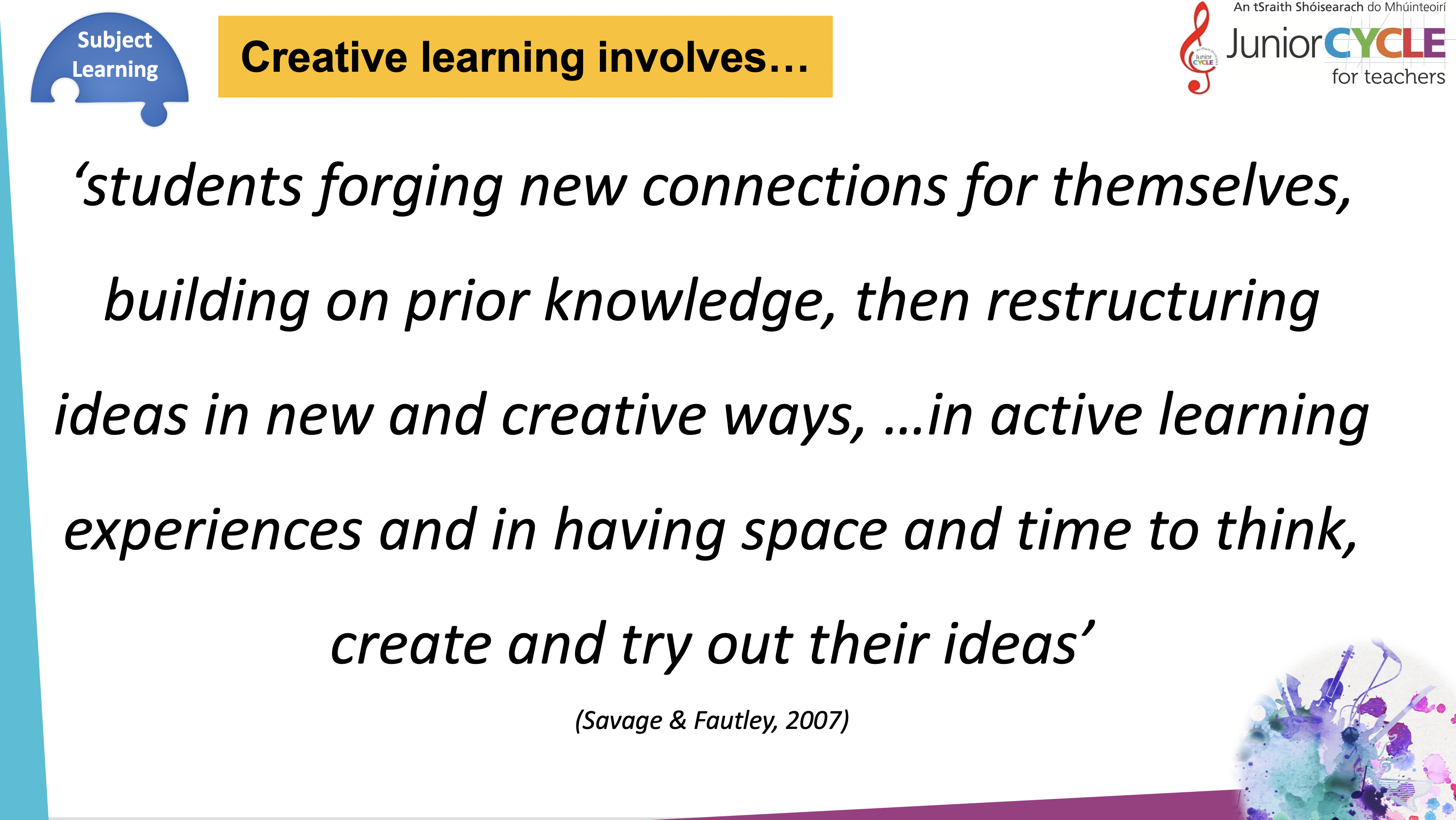 Creative Learning Involves...