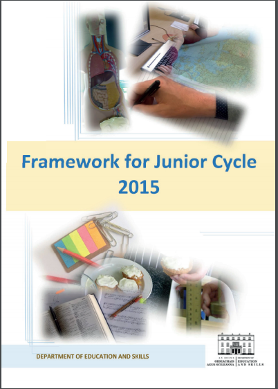 Image of front page of Framework for Junior Cycle 2015