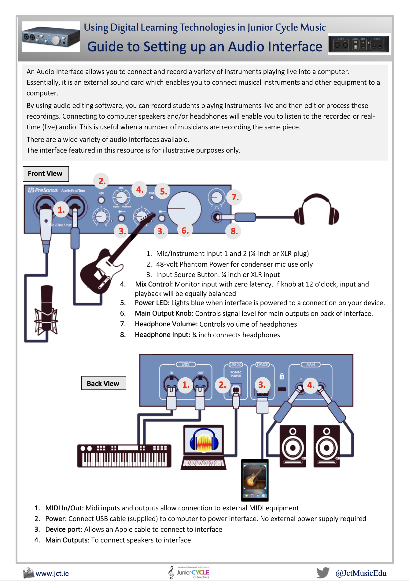 Guide to Setting up an Audio Interface