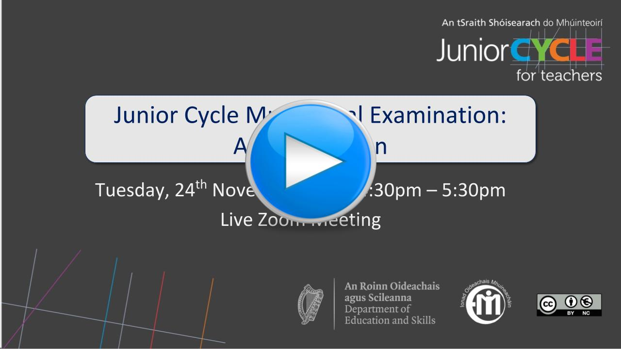 Junior Cycle Music Final Examination: An Exploration