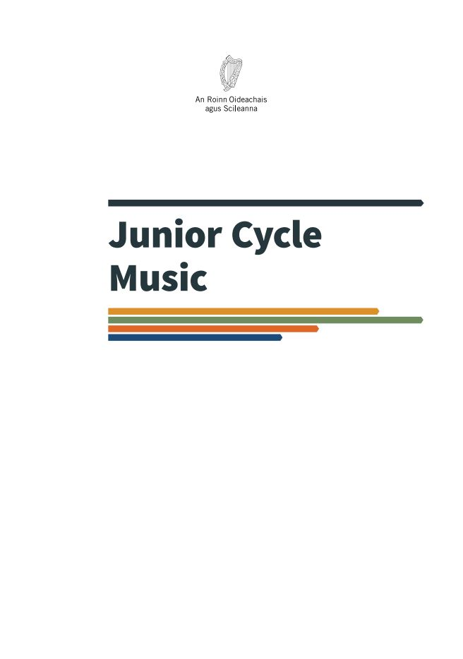 Front page of English Music Specification