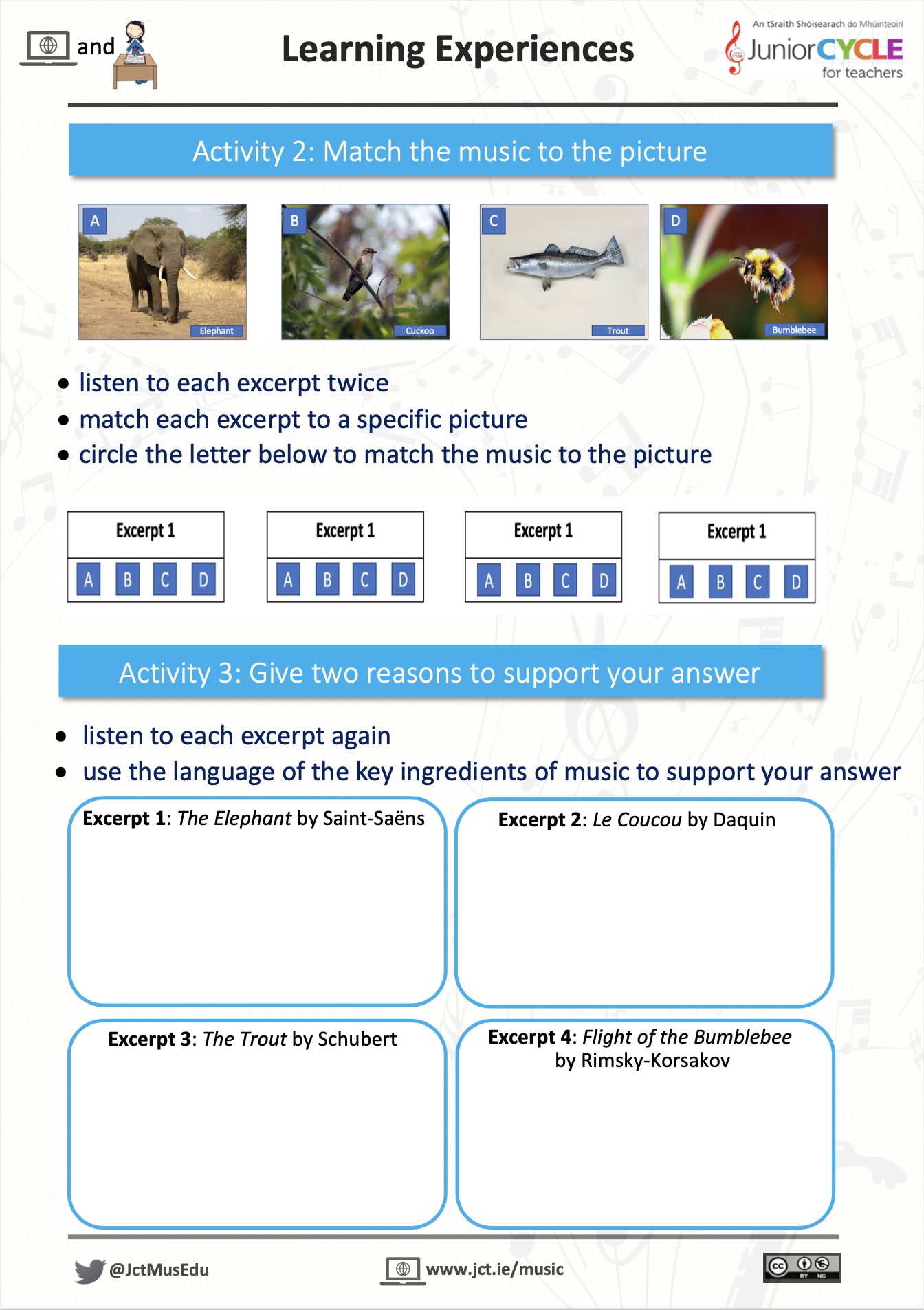 Online Learning Creating Music - Activity 2 & 3 PDF