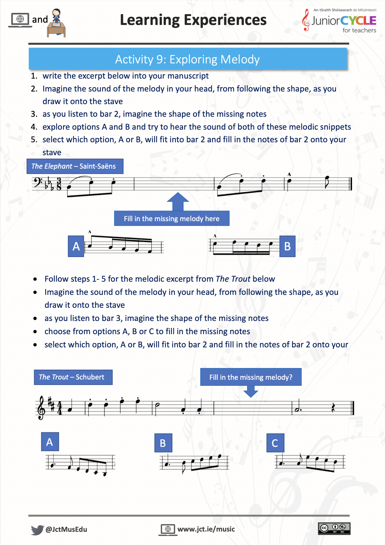 Online Learning Creating Music - Activity 9 PDF