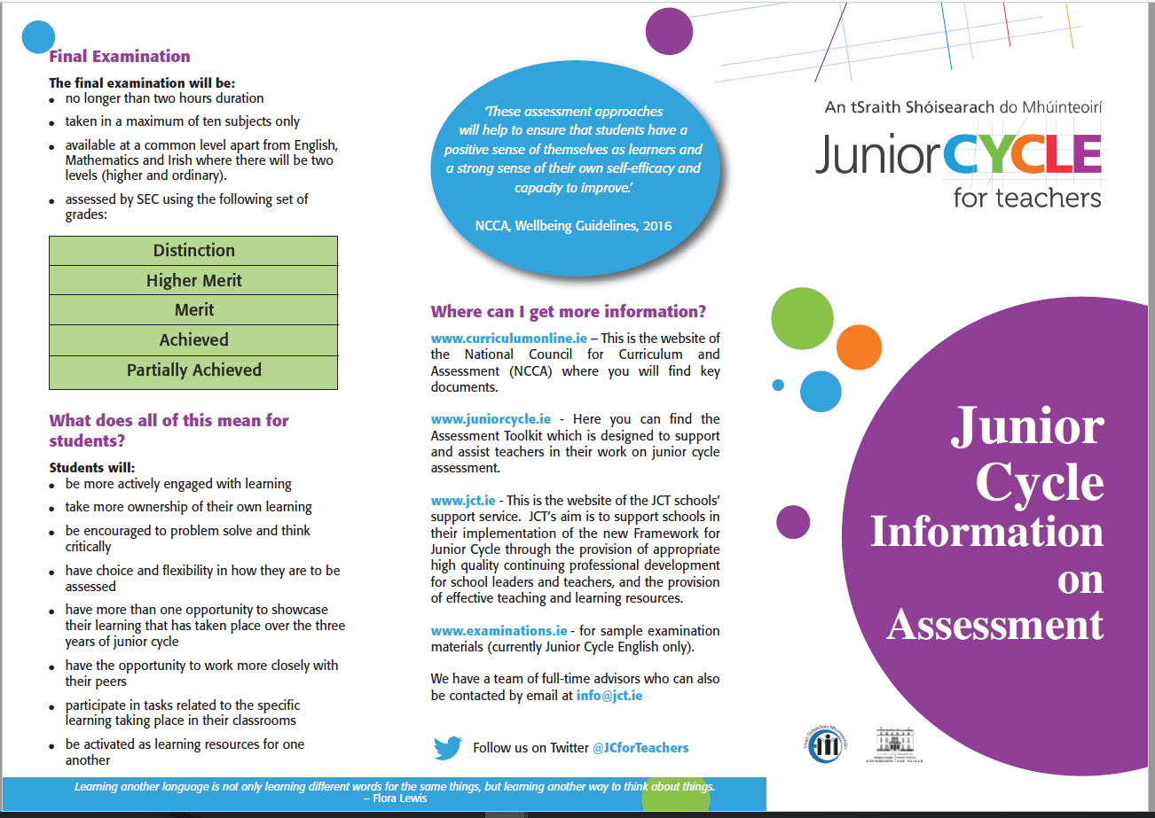 Assessment Information Leaflet
