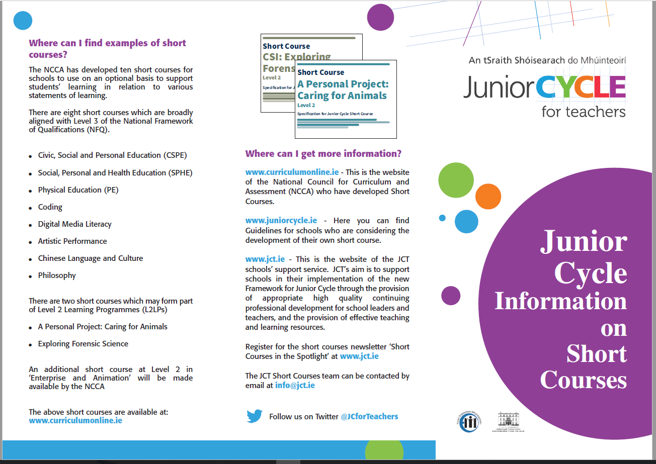 SHORT COURSES Information Leaflet
