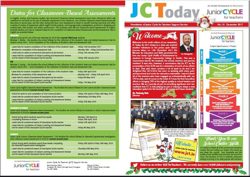 JCToday Newsletter Dec 2017