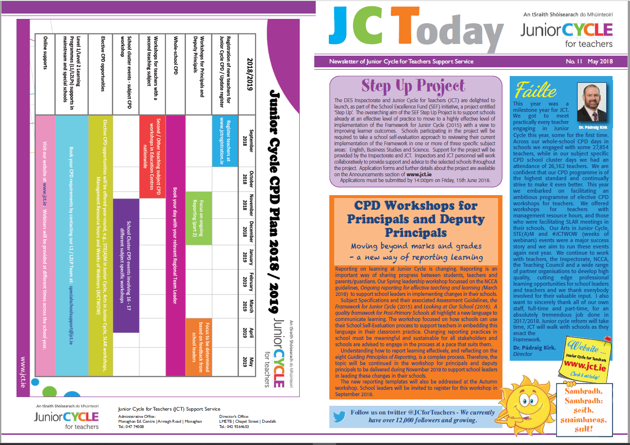 JCToday Newsletter May 2018