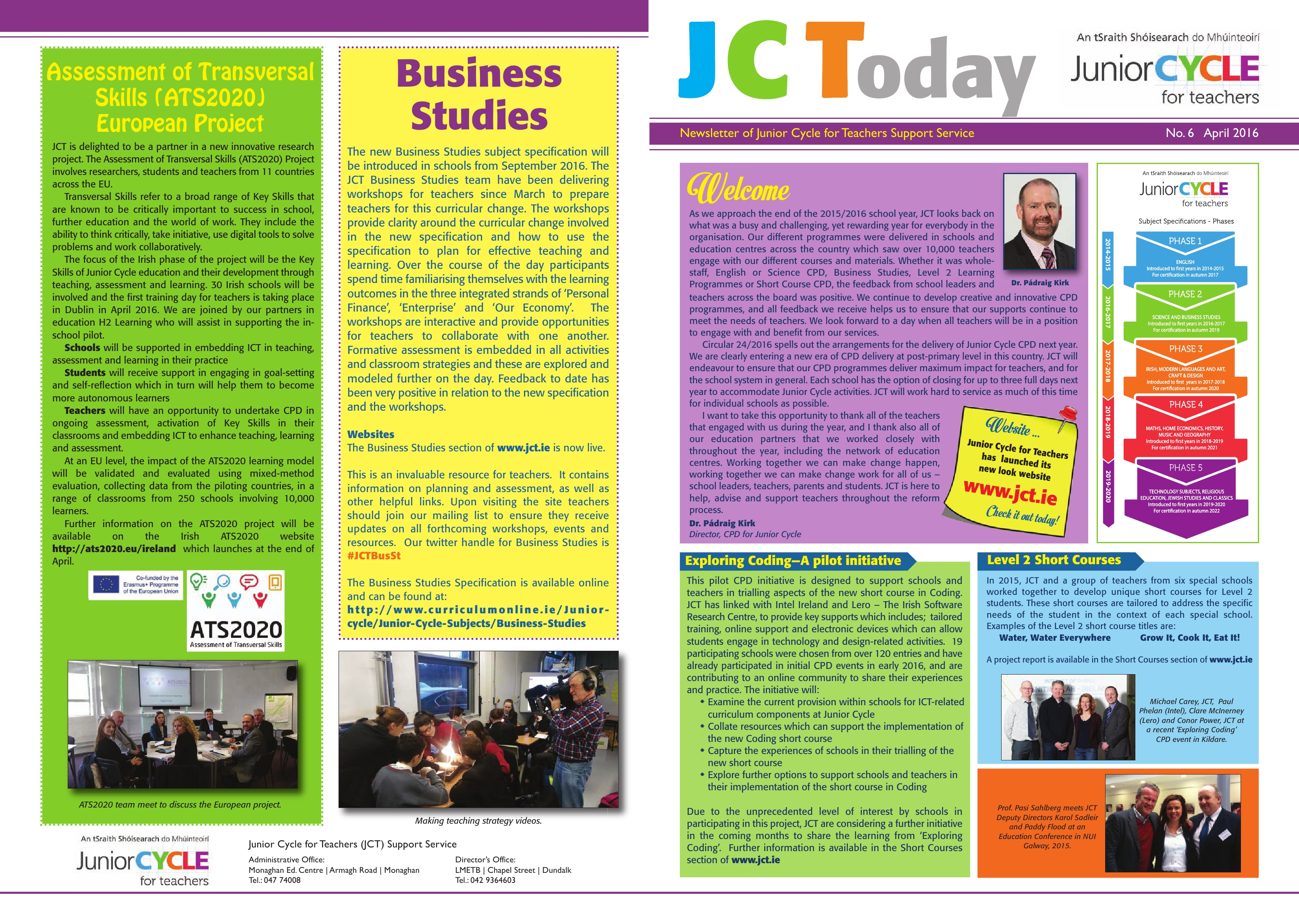 JCToday Newsletter  APRIL 2016