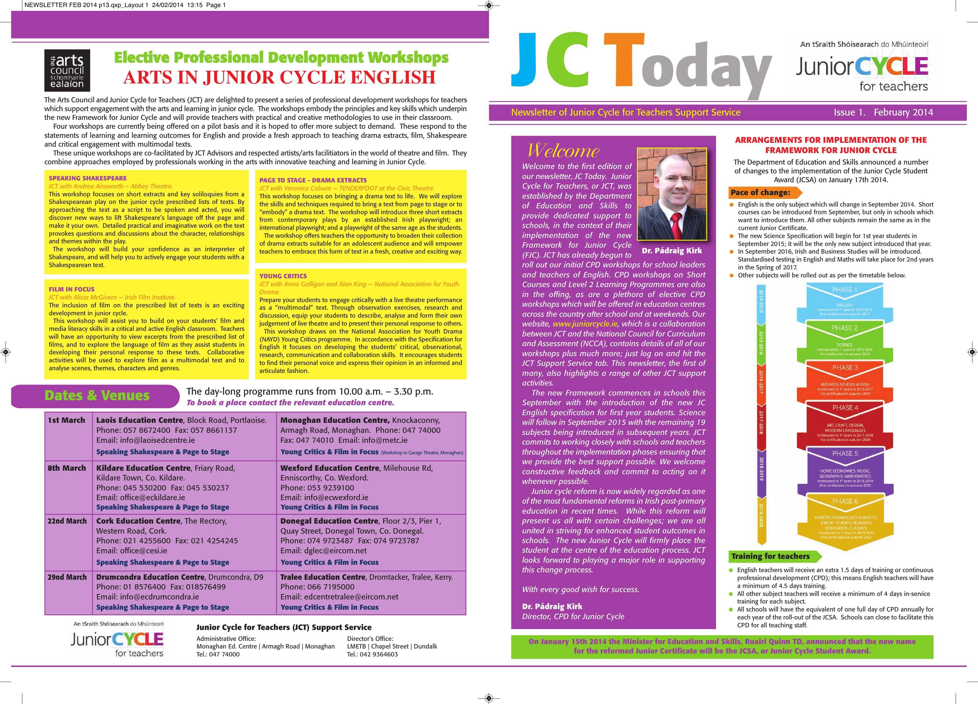 JCToday Newsletter Feb 2014