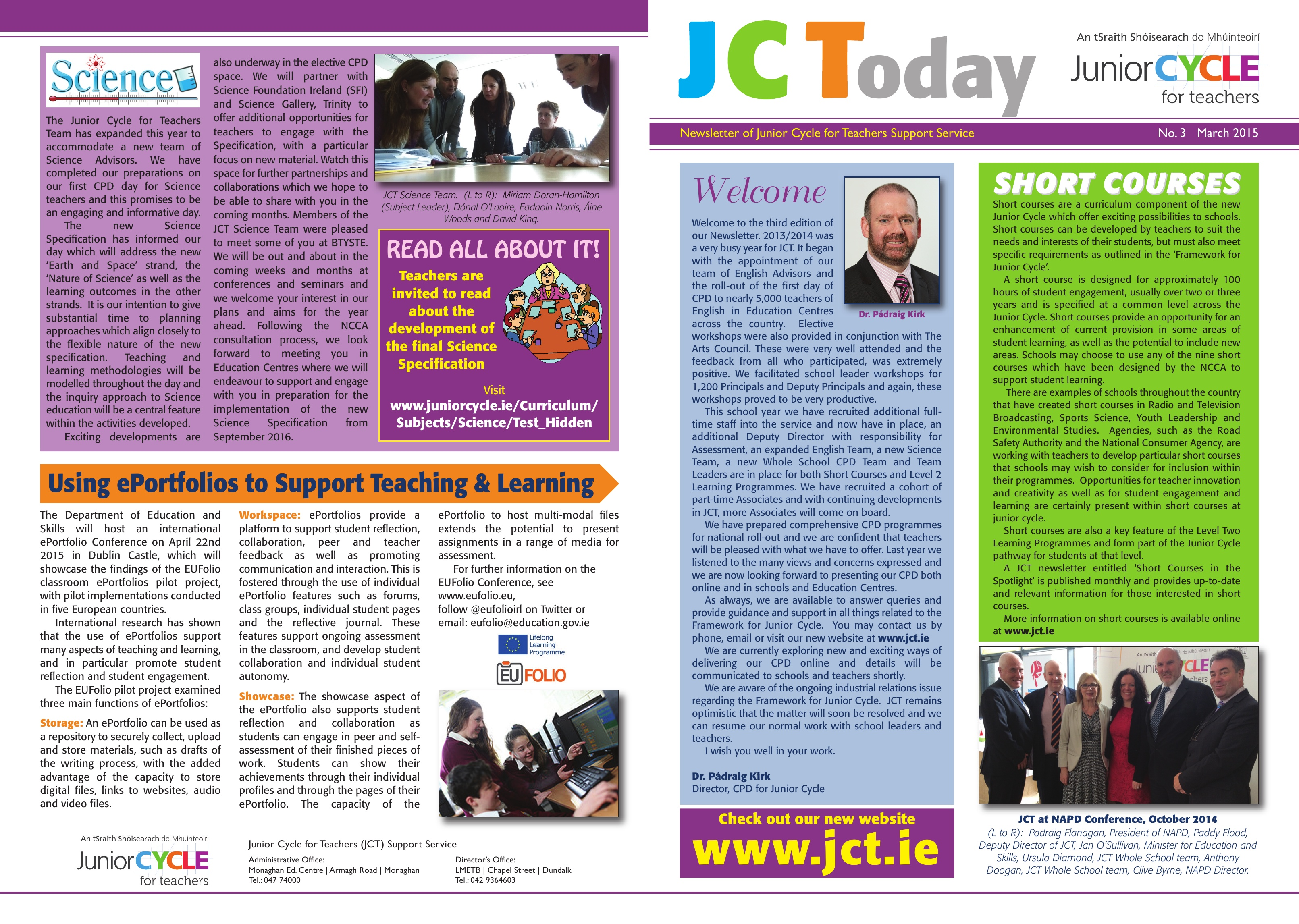 JCToday Newsletter March 2015