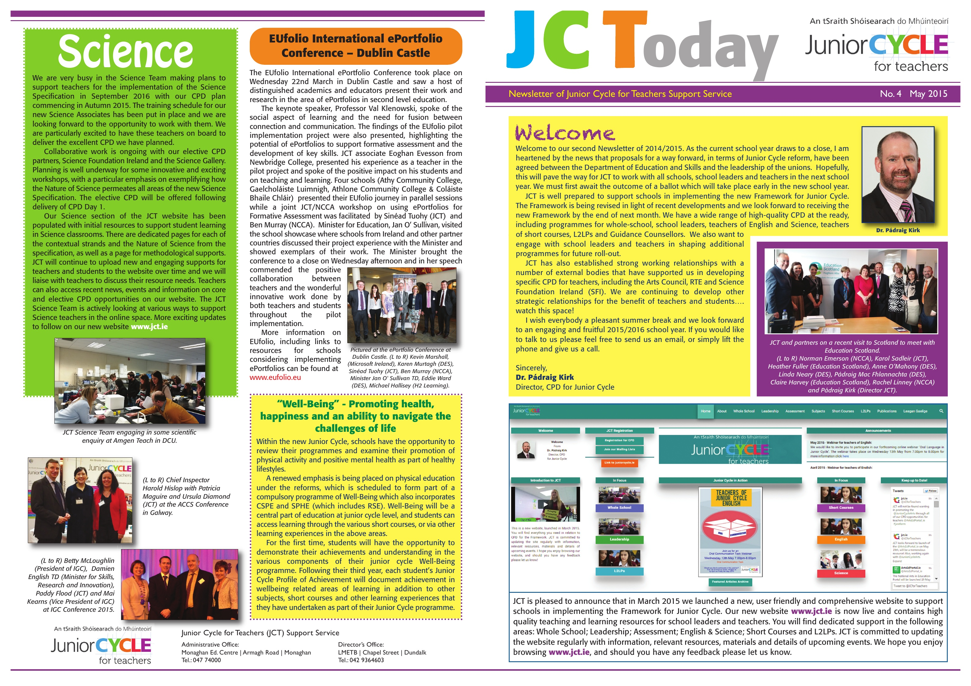 JCToday Newsletter May 2015