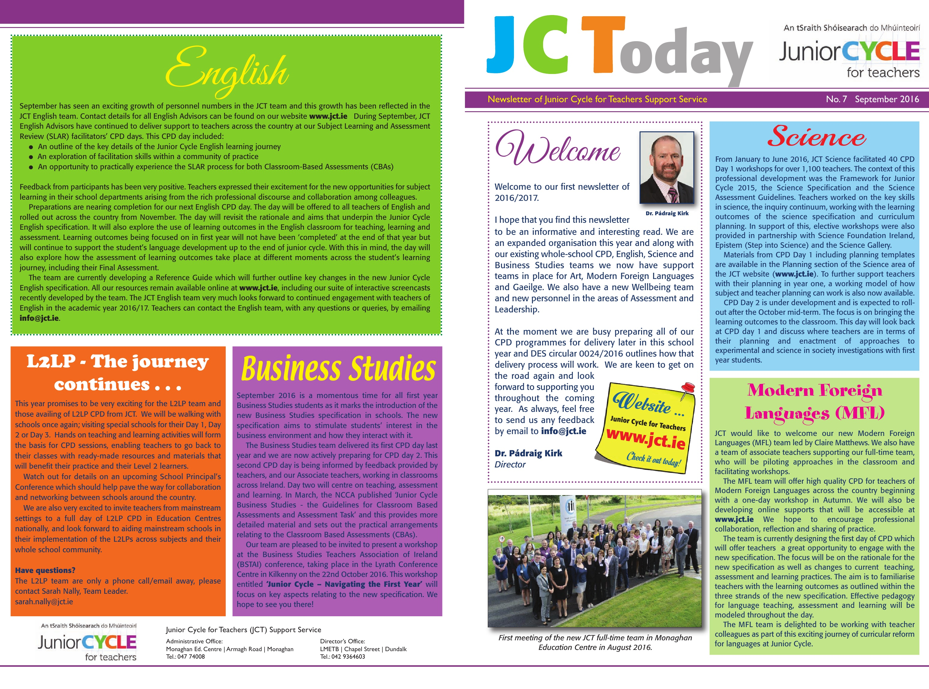 JCToday Newsletter Sept 2016