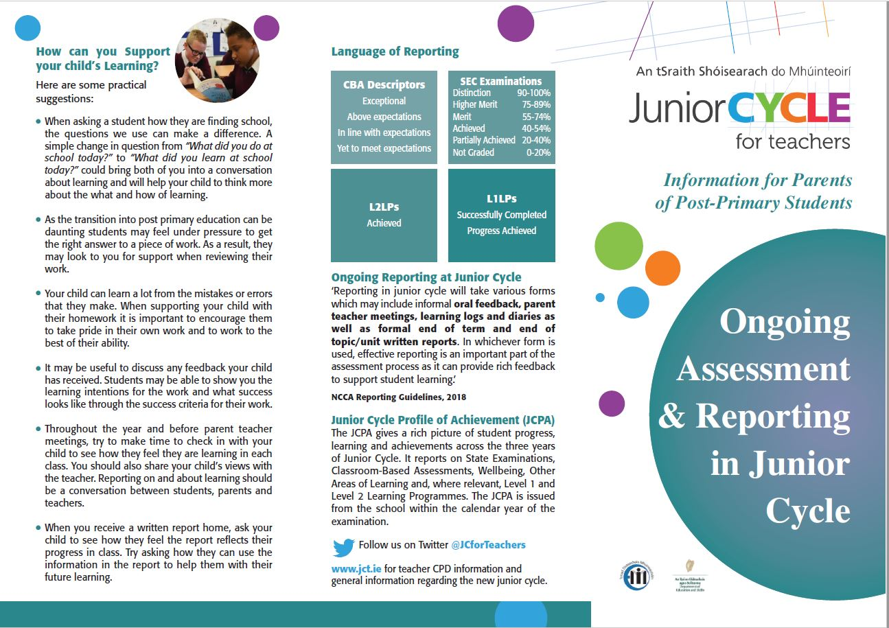 Ongoing Assessment and Reporting in Junior Cycle