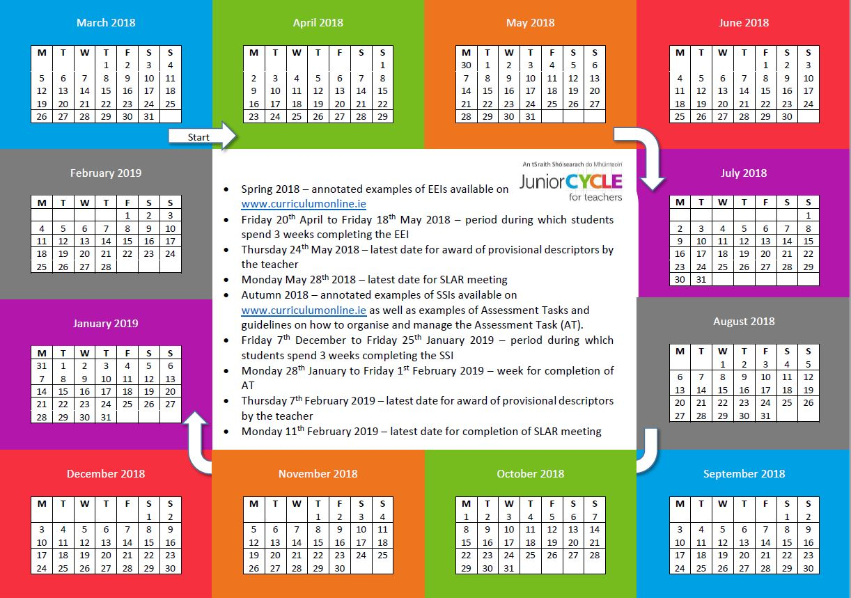 Science Assessment Calendar 2018-2019