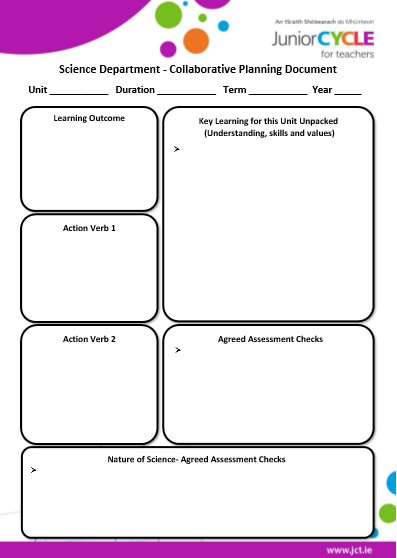 Science Collaborative Planning Document b&w