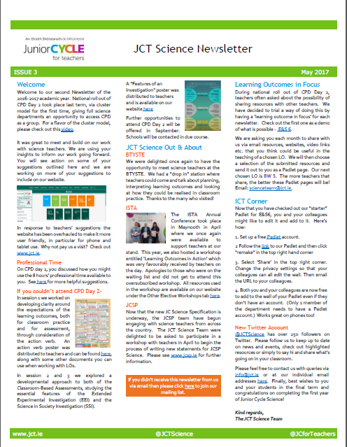 Science Newsletter Issue 3