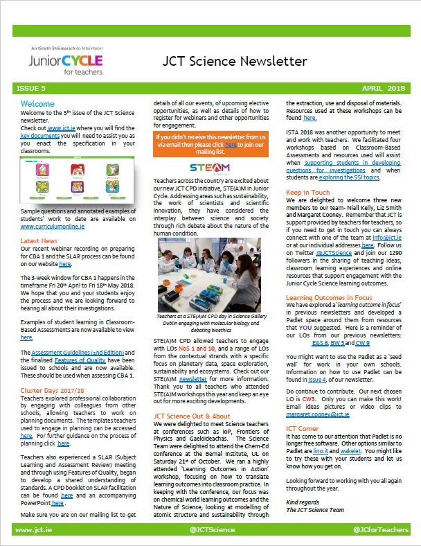 Science Newsletter Issue 5