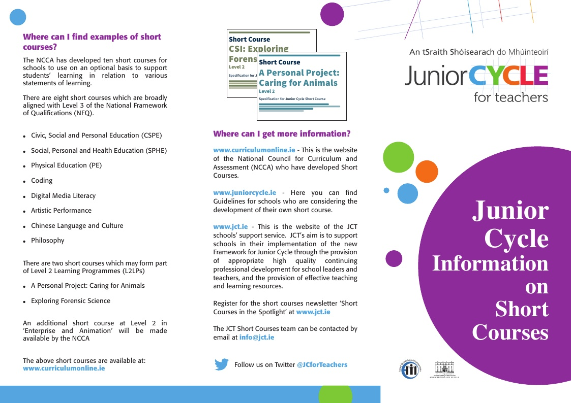 Short Course Information leaflet