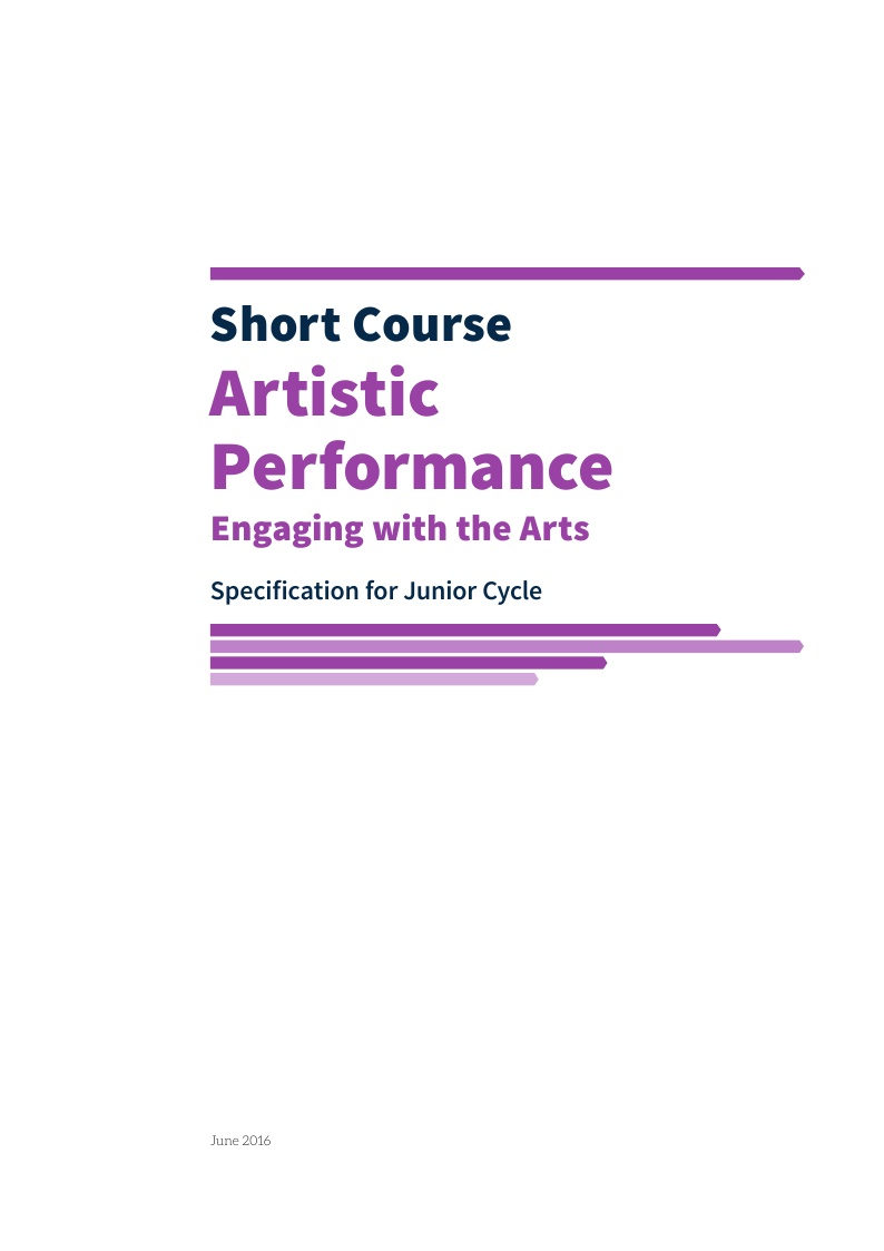 Artistic Performance Specification