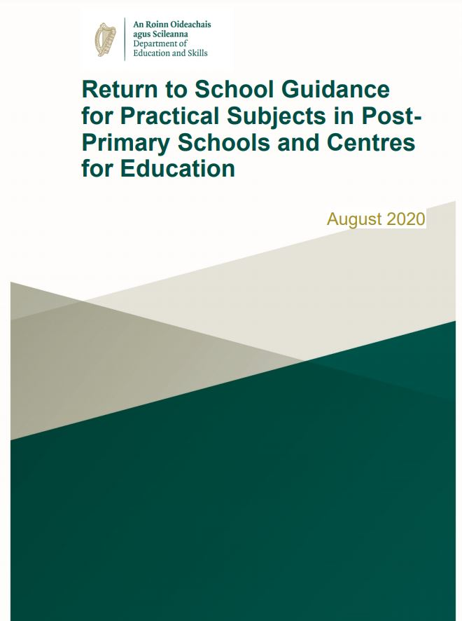 Return to School Guidance for Practical Subjects in Post-Primary Schools